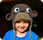 Crochet monkey Hat free pattern