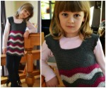 Crochet ripple dress free pattern