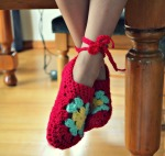 Crochet ballet slipper