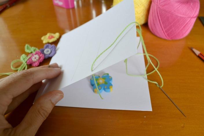 Free pattern crochet flower card